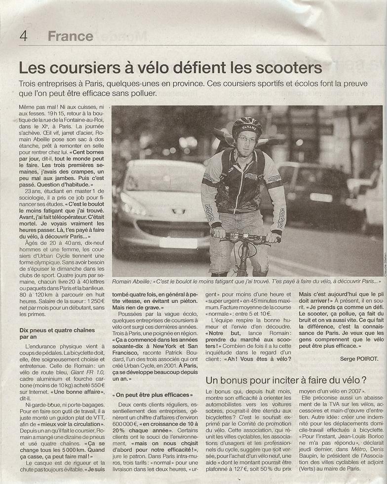 Ouest France 23 Sept 2008