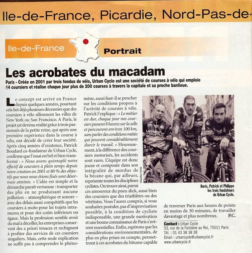 Magazine Le Cycle février 2007