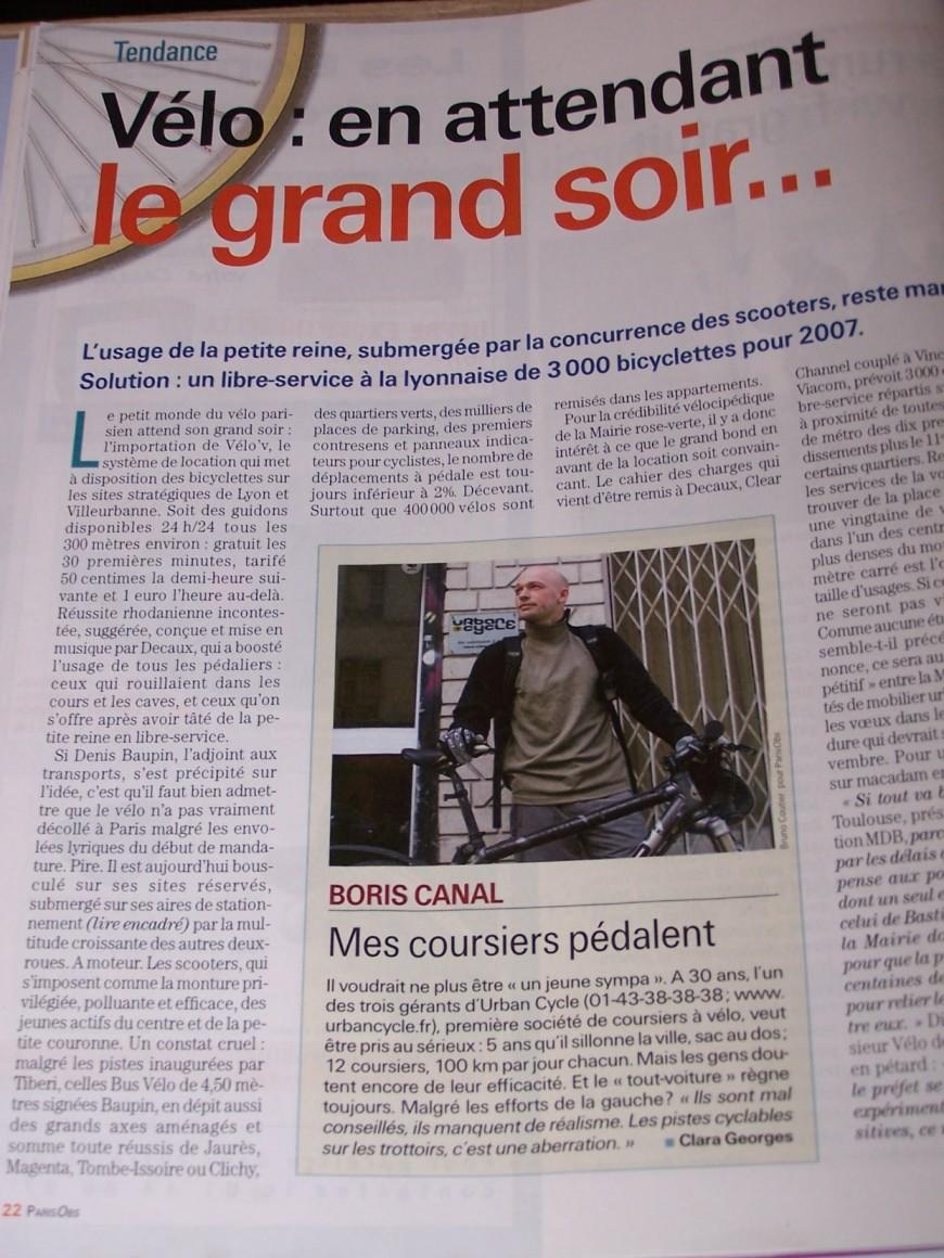 Paris Obs (Supplément Paris du Nouvel Obs) mai 2006