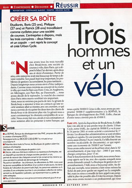 Rebondir n°99 – octobre 2001